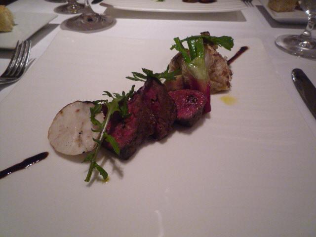 リストランテ・キオラ(とちぎ黒毛和牛&本日の根菜の炭火焼 8年熟成のバルサミコ 4500)