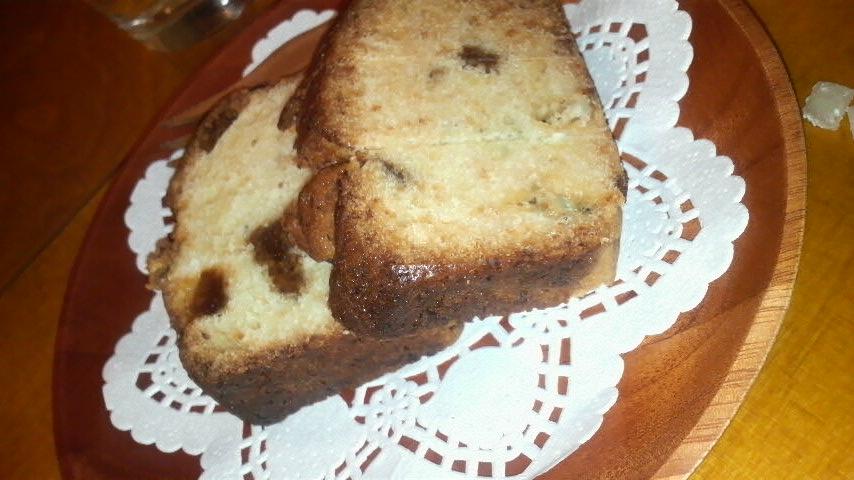 ガテモタブン(ブルーチーズとイチジクの自家製パウンドケーキ)