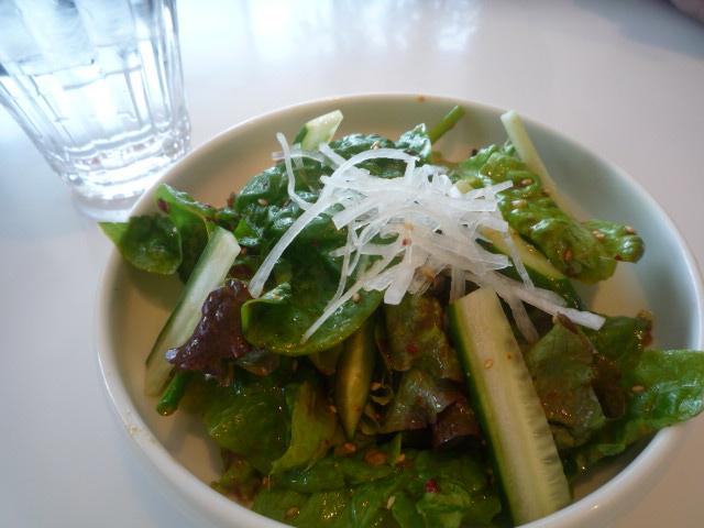 ぴょんぴょん舎GINZA UNA(冷麺チヂミセットのサラダ)