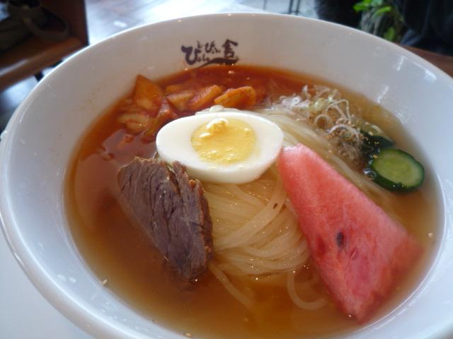 ぴょんぴょん舎GINZA UNA(盛岡冷麺中辛大盛)