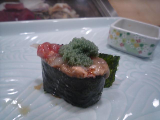 政寿司(大ボタンエビの卵&味噌)