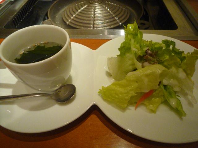 マツジン(ランチセットのサラダ&スープ)