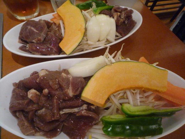 マツジン(ラムジンギスカン食べ比べランチ・特上ラムランチ)