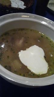 BAIKAL(チキン、マッシュルーム、サワークリームスープ)