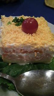 BAIKAL(ゆで卵、サーモン、ポテトのミルフィーユ)