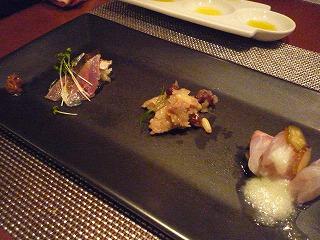 OggiDalmatto(お魚の前菜)_新さんま・たかべ・いさき