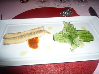 エノテカピンキオーリ(穴子のフリット トマトとバジルのチャツネ キュウリのサラダ)S