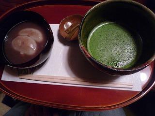 加那や(蕎麦がき汁粉)