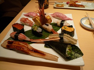 梅丘寿司の美登利総本店(板さん盛合せ)