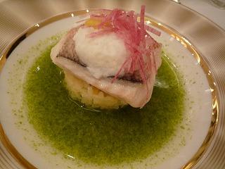 お魚料理(真鯛)