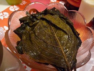 エゴマの葉醤油漬け
