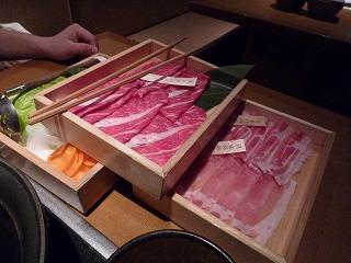 温野菜(最初のお肉&野菜)