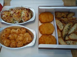 ピザハット(デリチキコンボ・チーズポップン・ポテポテチーズ焼)