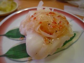 かっぱ寿司(たこカルパッチョ)