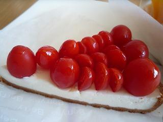 ベリーカフェ(高糖度トマト「アメーラルビンズ」のタルト)