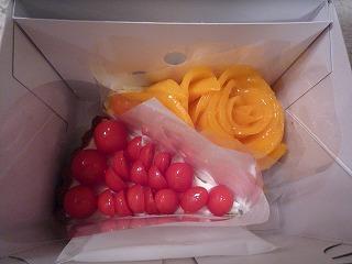 ベリーカフェ(宮崎県産完熟マンゴーのタルト・高糖度トマト「アメーラルビンズ」のタルト)