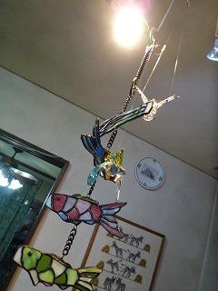 初節句ステンドグラスの鯉のぼり (吊るし)