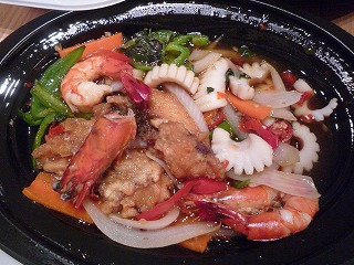 OrientalDeli(シーフードのバジル炒め)