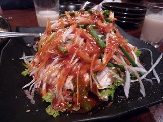 鳳仙花(豆腐サラダ)