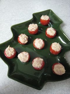 プチトマトonツリーのお皿