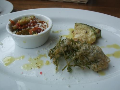兵庫県産野菜の前菜3つ