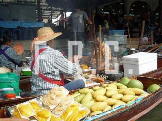 バンコク 観光名所 ツアー 水上マーケット