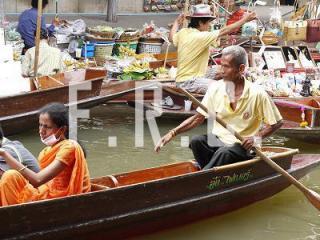 水上マーケット バンコク郊外 オプショナルツアー タイ