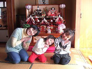 我が家の女性3人、仲良くポーズ