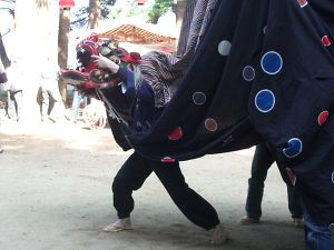 白髭神社の獅子舞2008