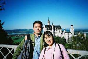 新婚旅行、ノイシュバンシュタイン城で