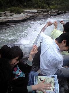 ライン下り(水浴び)