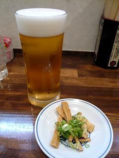 むらさき山(生ビール、おつまみ)