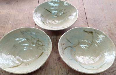 銹び絵の鉢