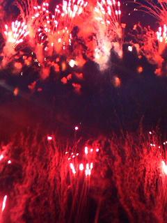 板橋花火赤