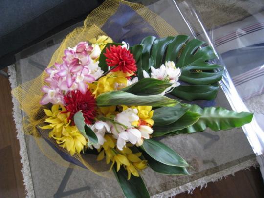 シンビジウム花束