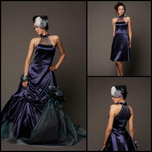 Quantize 青ドレス 縮小