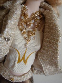 FR misaki metallic moment necklace