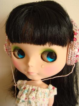 blythe friendly freckles  headphone on @nai
