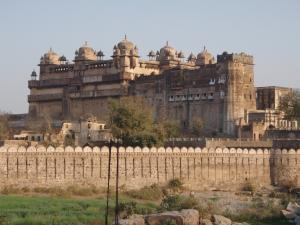 宿から見る城