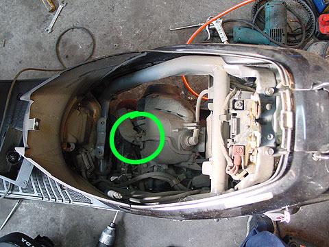 HONDA SuperDio AF27 AF28 SR ZX スーパーディオ マフラー交換
