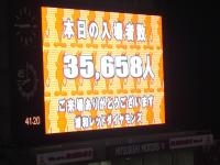 入場者数35,658人