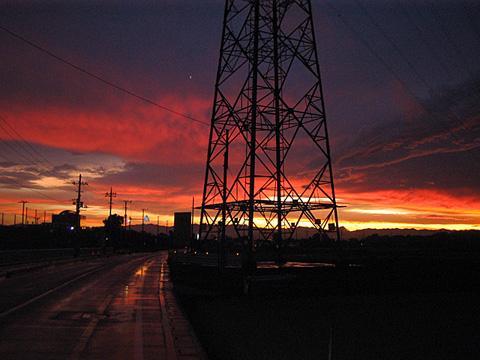 川越の夕日