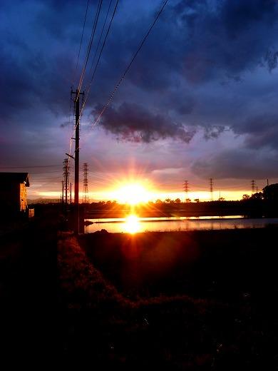 寺山の夕日 003
