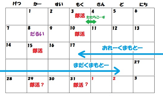 三月予定表