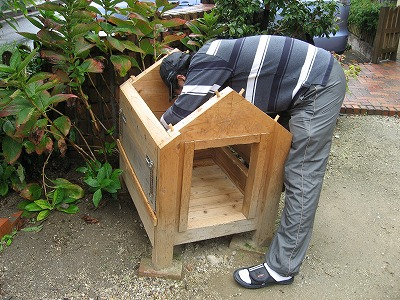 犬小屋の修理