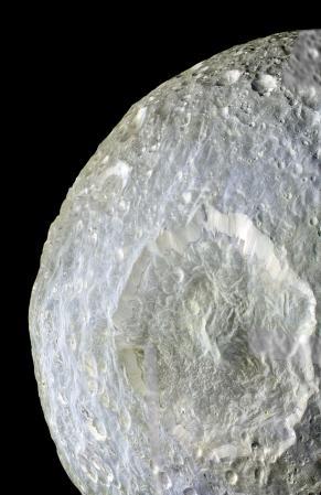 Mimas crator