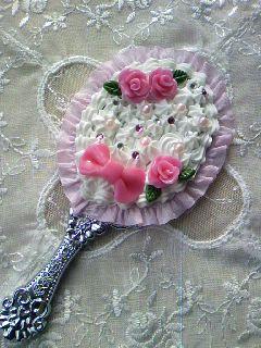 バラの手鏡