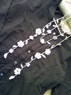 レース編みのラリエットミニ