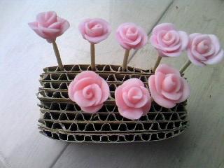 粘土のバラ乾燥