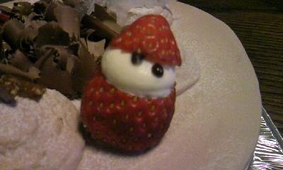 セルクルのケーキ莓の雪だるま0001